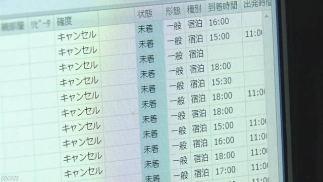 被害わずかも温泉旅館で予約キャンセル相次ぐ 長野 上田   NHKニュース