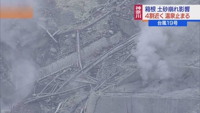 箱根 4割近くの旅館で温泉の供給停止 旅館どうしで融通し営業 | NHKニュース