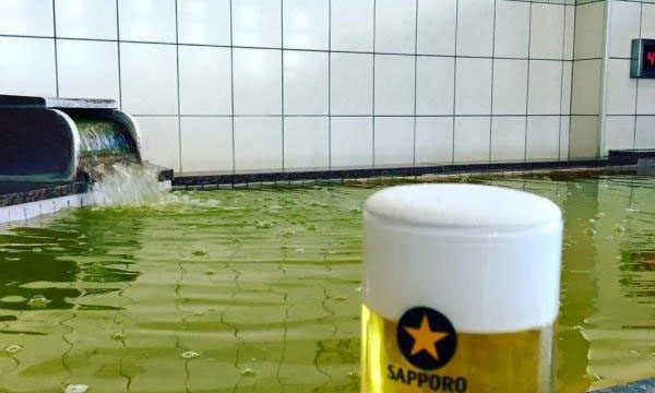 ビール風呂 「湯快爽快ちがさき」