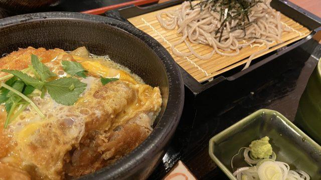 彩香 カツ丼+蕎麦