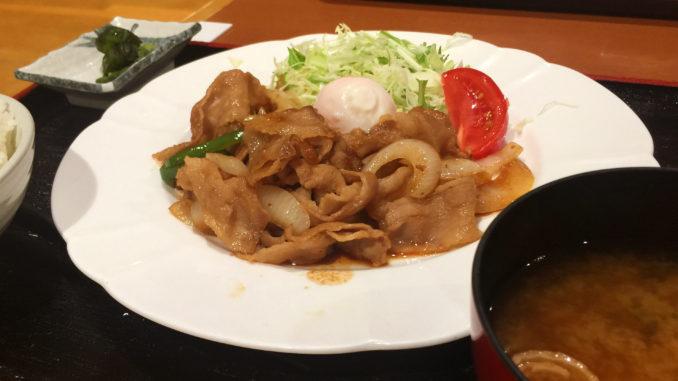 定食といえば、生姜焼き / 湯乃蔵ガーデン