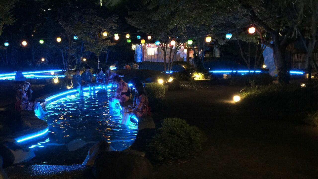 大江戸温泉物語 ライトアップされた足湯