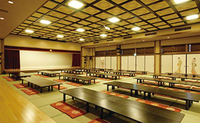 東京お台場 大江戸温泉物語 イベントも行われる 「中村座」(174畳)