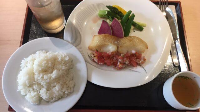 東京染井温泉 Sakura(サクラ)_カレイの塩焼きフレッシュ野菜ソース
