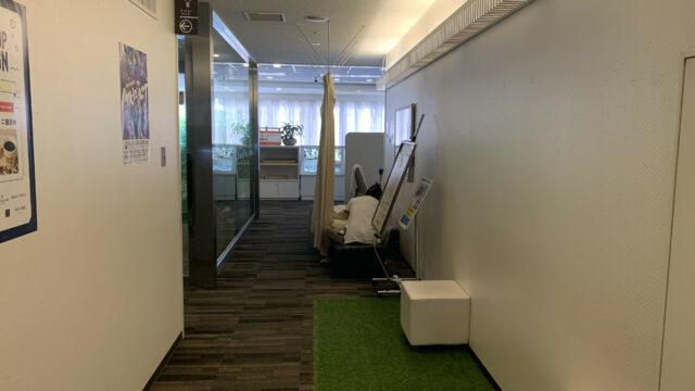 廊下も施術スペースになっているww