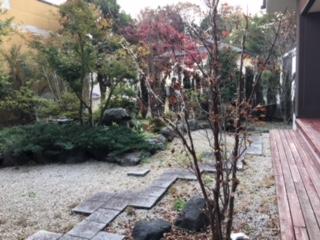 くりひら温泉中庭