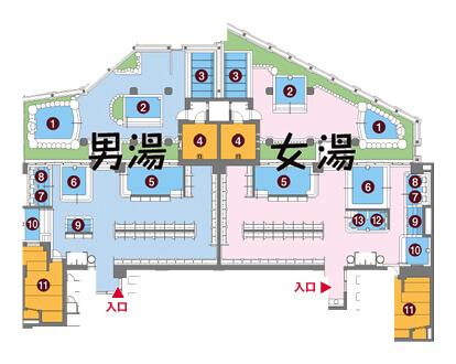 お風呂の王様 大井町 風呂Map