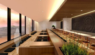 多摩川・富士山を望む併設のレストラン。住友不動産プレスリリース