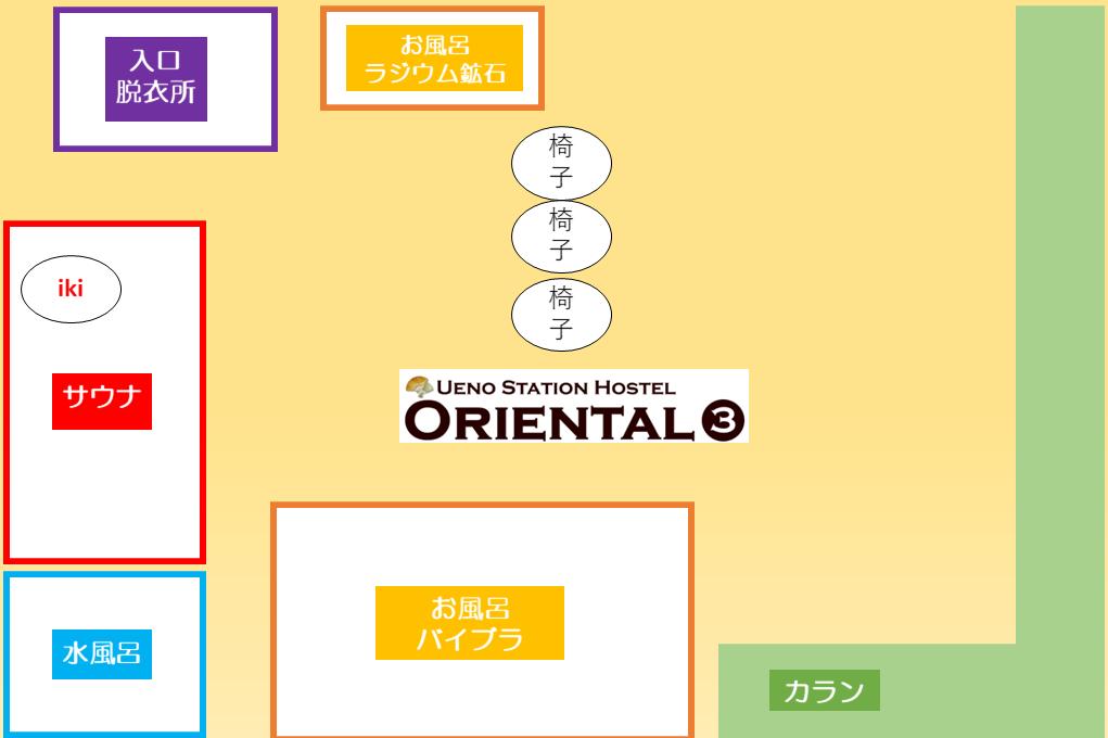オリエンタル3の風呂MAP