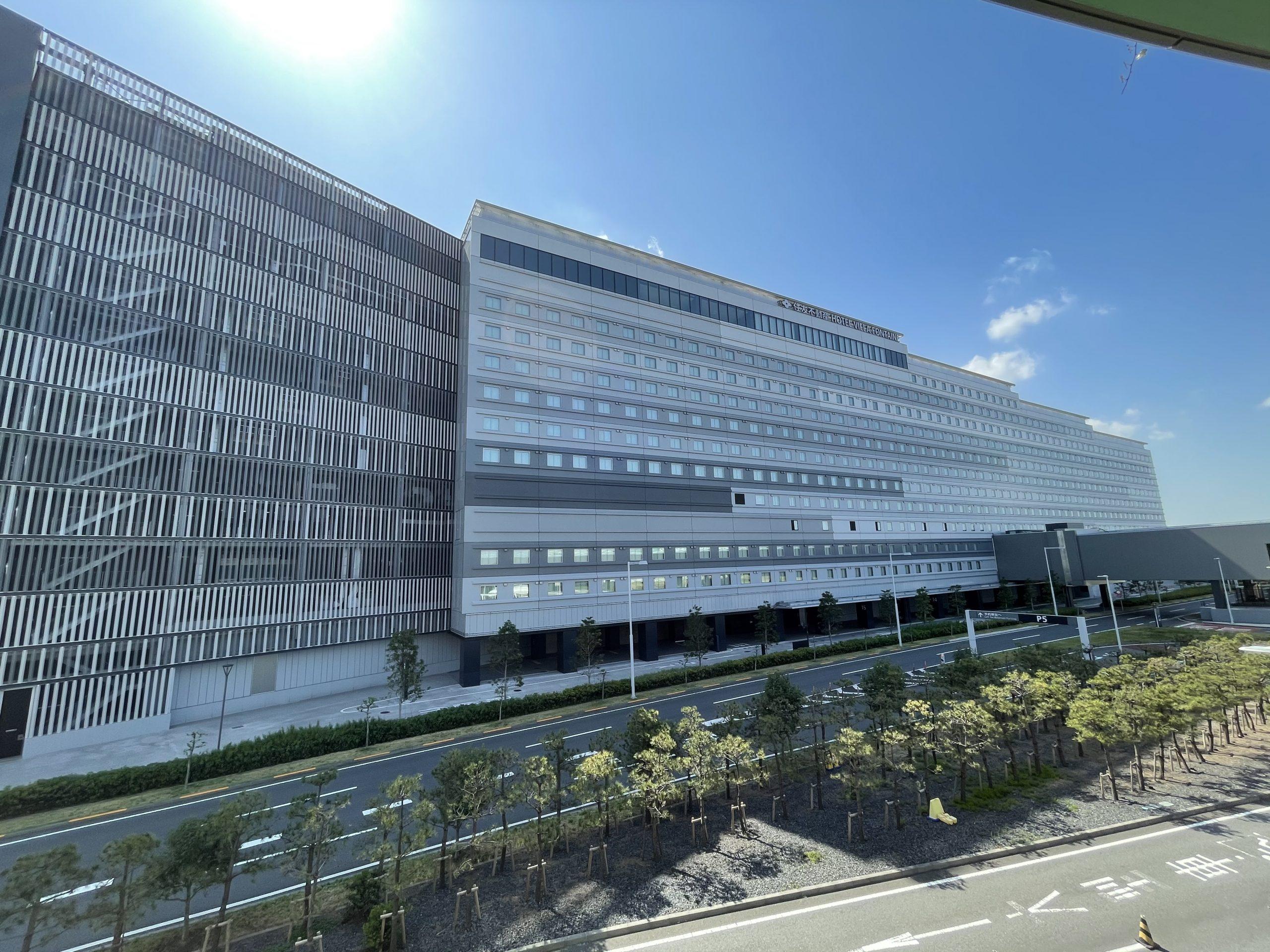デッキがわかる。羽田空港から見た!羽田エアポートガーデンとヴィラフォンティーヌ!
