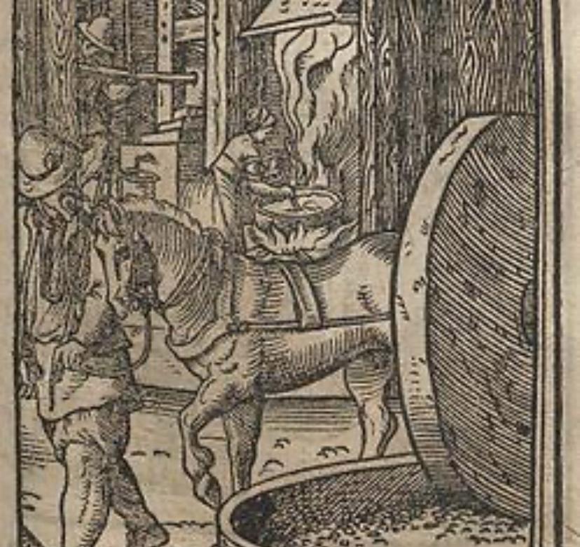 17世紀中頃の石鹸工場を描いた版画