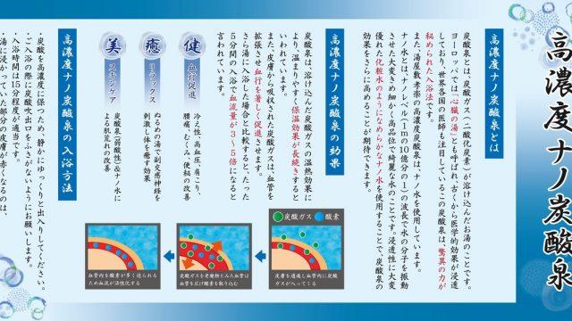 湯屋敷考楽 ナノ水の説明