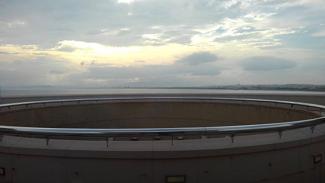 江の島アイランドスパ_相模湾に沈む夕陽