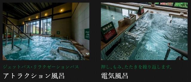 つくば温泉喜楽里_アトラクション風呂&電気風呂