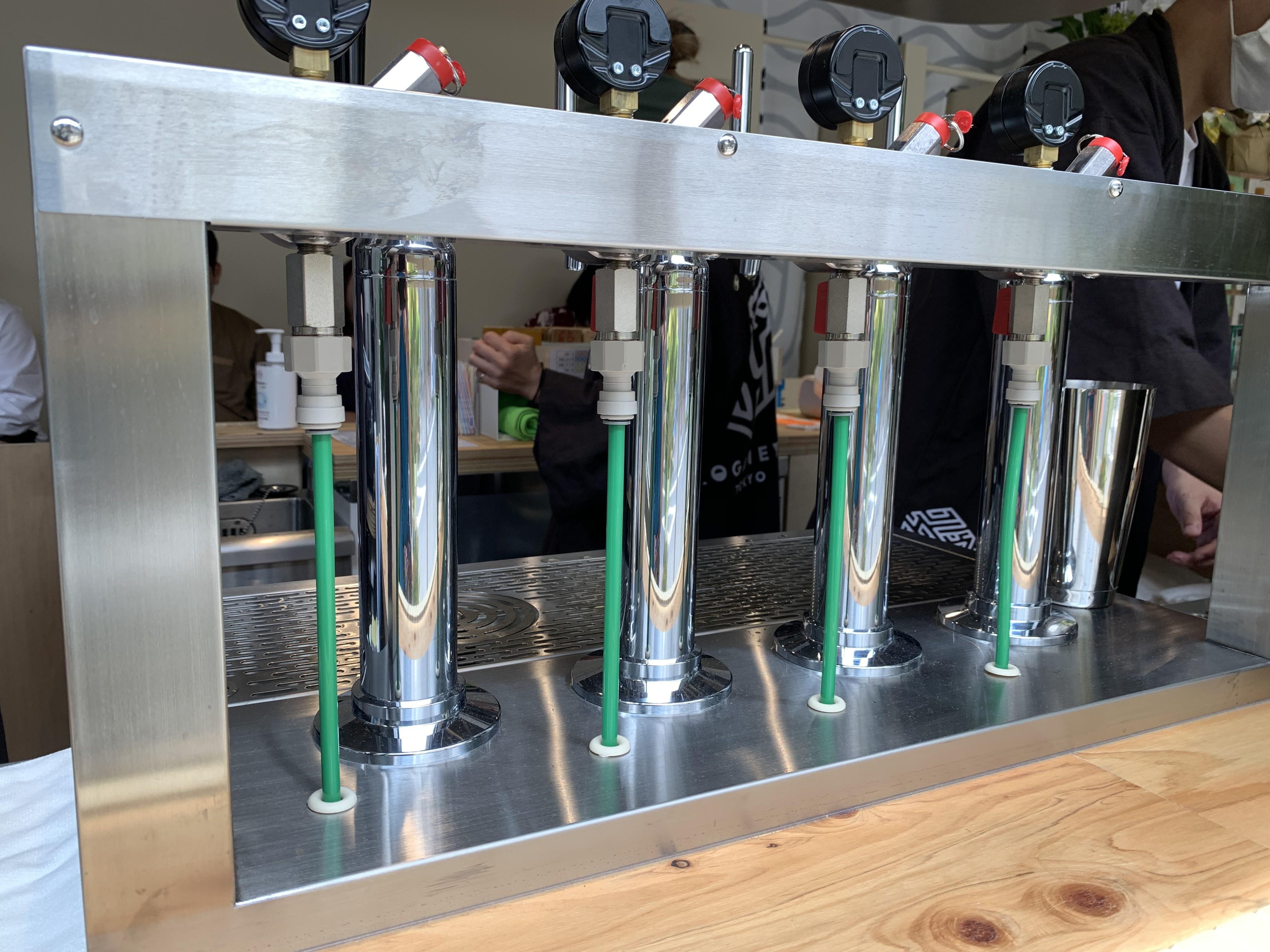 ビールタップが完備されている!!