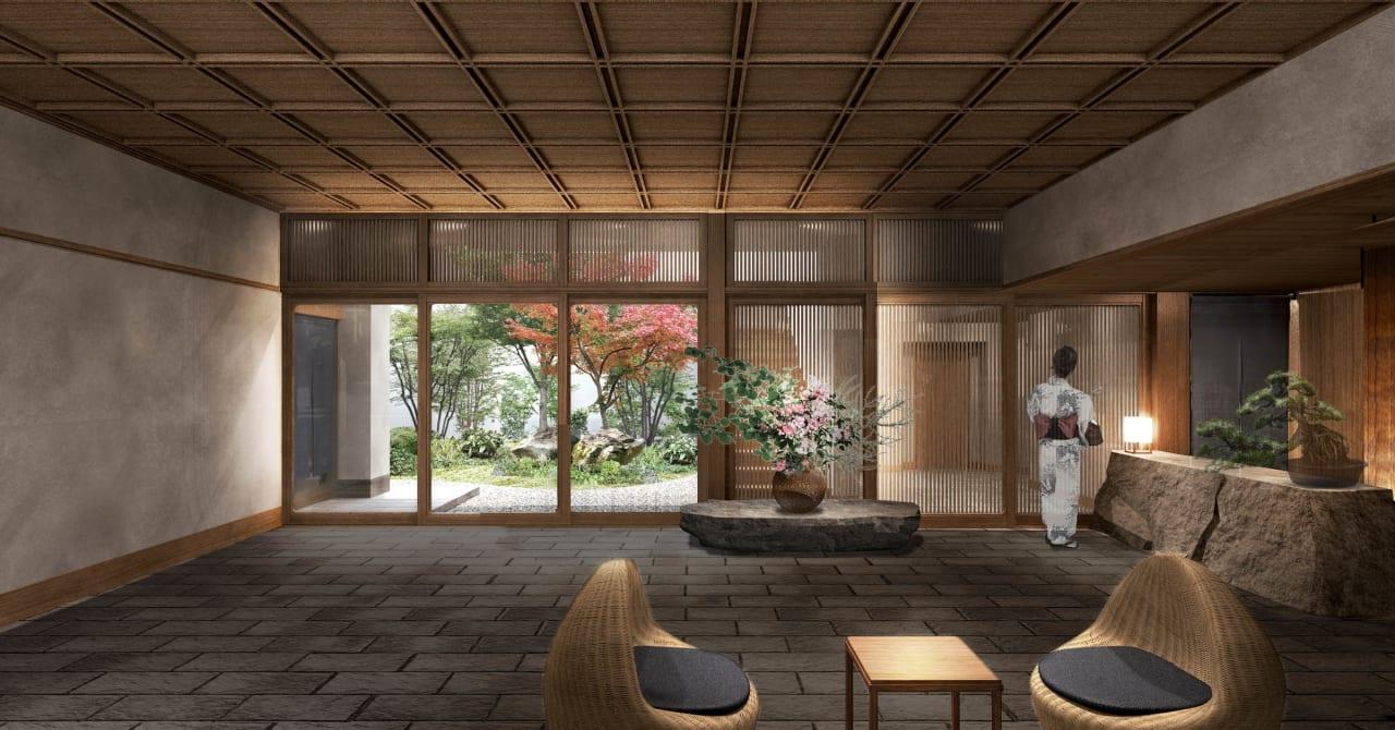 代田駅前に温泉旅館「由縁別邸 代田」が開業、アロマのミストサウナやトリートメントメニューを用意