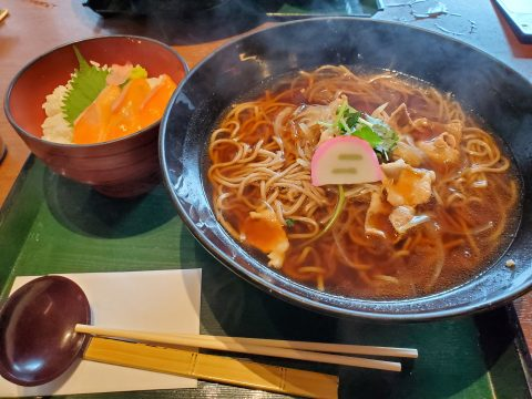 龍泉寺の湯草加 お蕎麦