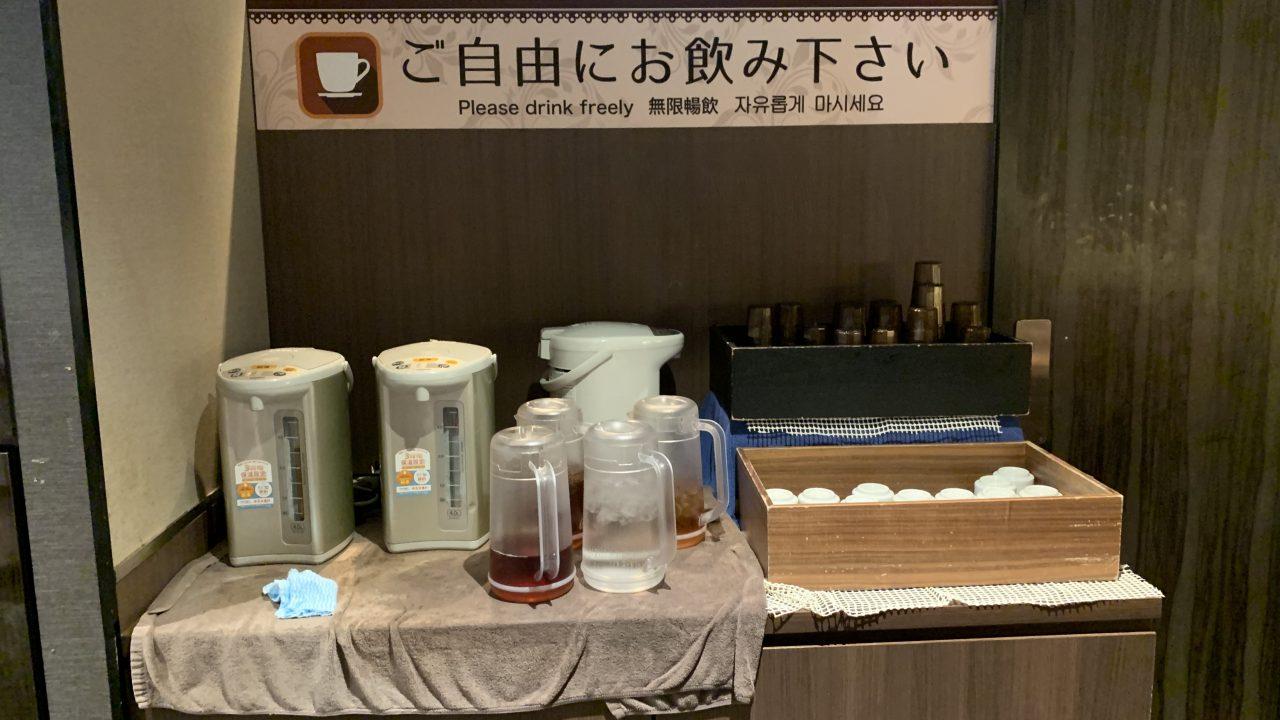 お茶と麦茶のカウンター:2階