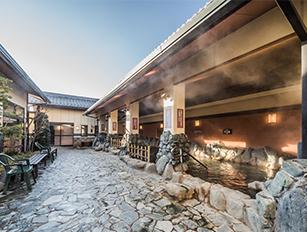 北本温泉 湯楽の里  岩風呂