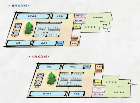 箱根湯本温泉天成園_大浴場MAP