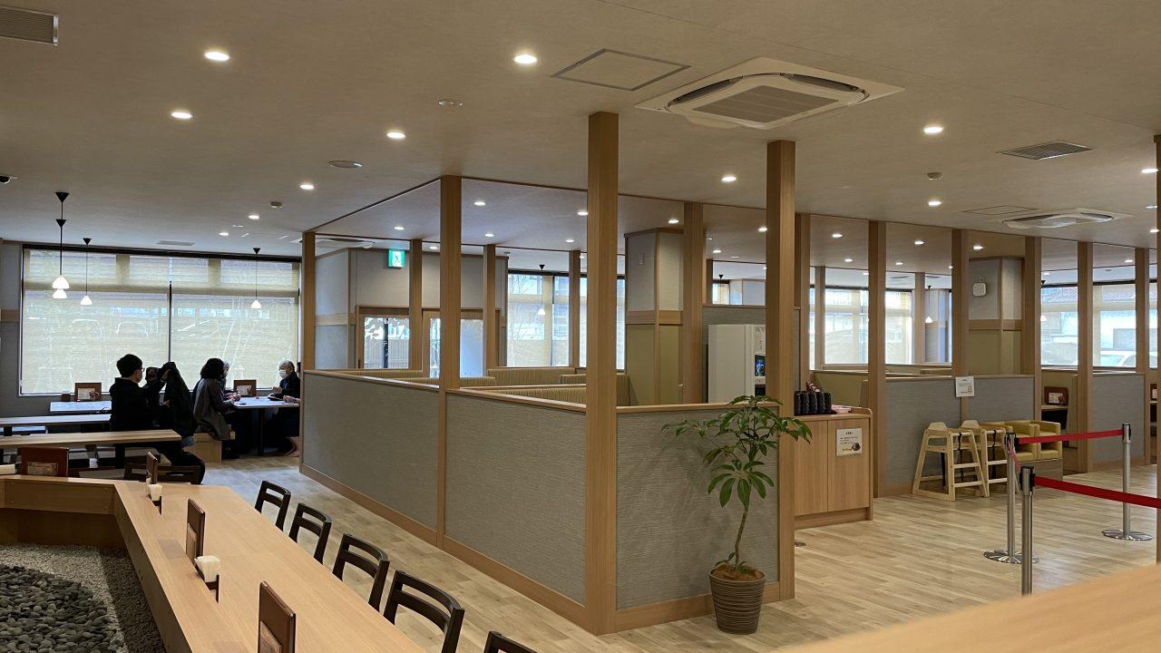 食事処「飯炊処ひかり」は…「奇跡の米」新潟県妙高市産のこしひかりをメインに使用。メニュー の数は常時約100アイテム。