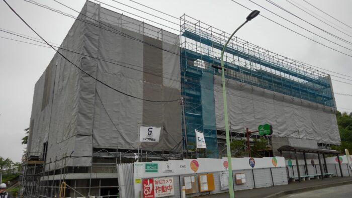 町田_温浴施設建設中外観