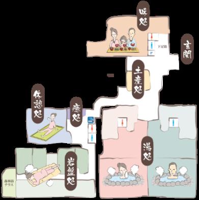 武芸川温泉 館内図